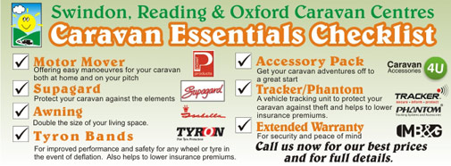 Caravan Essentials Checklist from Swindon Caravans